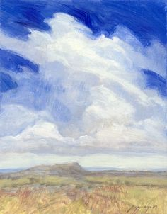 Windswept tall cloud over the Montana prairie by PoppengaArtStudio, $135.00