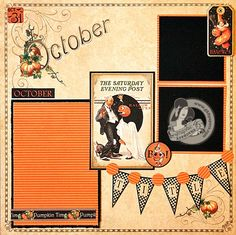 Graphic 45 - Place in Time October Layout - Scrapbook.com