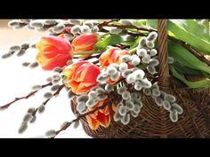 Букет вербы в весеннем декоре