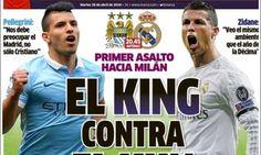 Cristiano Ronaldo vs Sergio Aguero: It's the King against... #RealMadrid: Cristiano Ronaldo vs Sergio Aguero: It's the King… #RealMadrid