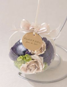 Ornament to preserve wedding flowers!