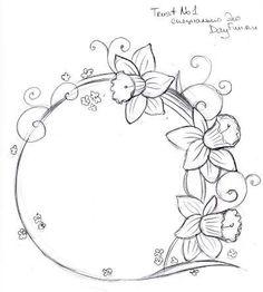 Cómo dibujar un narciso lápiz etapas 6
