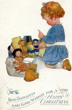Doll teacher Christmas card, Susan B. Pearse