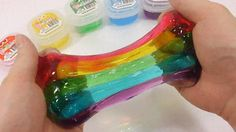 Best thing you see is slime Fun Crafts, Diy And Crafts, Crafts For Kids, Slimy Slime, Playing With Slime, Rainbow Slime, Easy Slime Recipe, Slime For Kids, Silly Putty