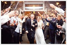 Sparkler Exit. Photo Credit: Jonathan Gibson Photography