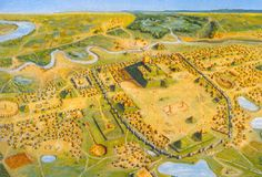 The varying cultures called Mound Builders were prehistoric inhabitants of North America who, during a 5,000-year period, constructed various styles of earthen mounds for religious and ceremonial, burial, and elite residential purposes. These included the Pre-Columbian cultures of the Archaic period; Woodland period; and Mississippian period; dating from roughly 3400 BCE to the 16th century CE, and living in regions of the Great Lakes, the Ohio River valley, and the Mississippi River valley.