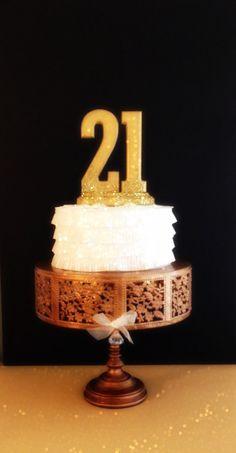 21st BIRTHDAY CAKE TOPPER Wedding Anniversary by OHONEFINEDAY, $27.90