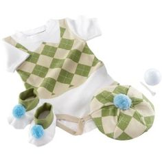 Baby Aspen Sweet Tee? 3 Piece Golf Layette Set in Golf Cart Packaging, 0-6 Months