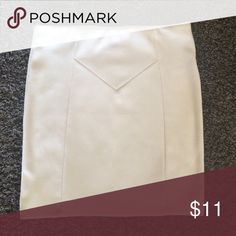 White pencil skirt White pencil skirt, actually more of a cream color Forever 21 Skirts Pencil