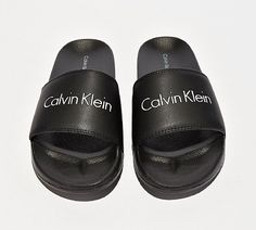 Calvin Klein Womens Linear Slides in Black. Sliding into your summer  selection with their luxe high end fashion aesthetic. A one piece moulded  footbed ... e2b86b1e6