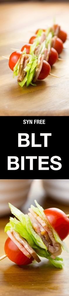 These Syn Free BLT Bites are a perfect Slimming World friendly snack when you just fancy something to nibble on, and they couldn't be easier to make! Slimming World Snacks, Slimming World Recipes, Healthy Snacks, Healthy Eating, Healthy Recipes, Diabetic Snacks, Syn Free Snacks, Keto Recipes, Blt Bites