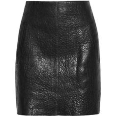 Carven Textured-leather mini skirt ($340) ❤ liked on Polyvore featuring skirts, mini skirts, bottoms, saias, leather, black, mini skirt, zipper mini skirt, short skirts and carven skirt