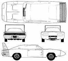 Image result for dodge charger 1970 blueprint