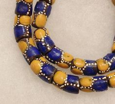 African Powder Glass Beads Tribal Beads 10 by ColorSquare on Etsy, $8.00