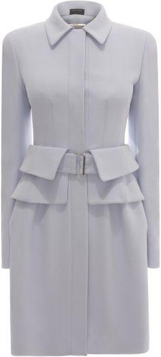 Utility Peplum Coat Dress ALEXANDER MCQUEEN