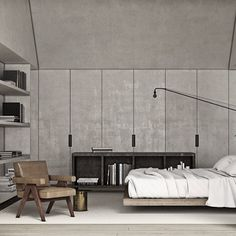 Bedroom by Adam Jordan - Pierre Jeanneret Chandigarh chair