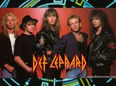 Rock of Ages features the music of Def Leppard-- http://www.defleppard.com/