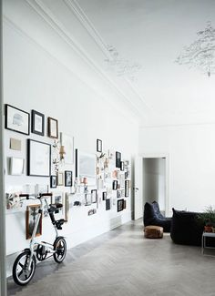 We're loving the gallery wall in the living room - A personal and interesting focal point.