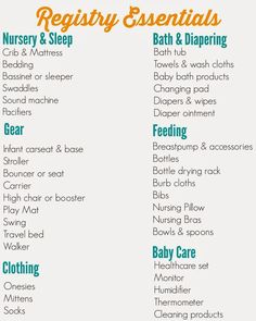 Best Baby Registry List  Free Printable Checklist  Baby