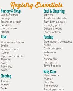 ultimate baby registry list