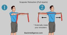 Do It Yourself Exercises to fix rounded shoulders posture. Rounded shoulders is prevalent in today's society because most people sit in a hunched position. Rounded Shoulder Exercises, Shoulder Pain Exercises, Neck Exercises, Shoulder Pain Relief, Neck Pain Relief, Neck And Shoulder Pain, Pinched Nerve Relief, Pinched Nerve In Neck, Shoulder Posture