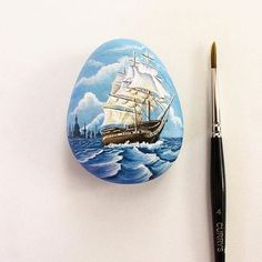 2.5 inch x 1.9 inch size. Tiny Oil painting on sea rock . Old ship symbolises courage and determination , that they can withstand any tough situation and get through it without being defeated. Perfect Christmas gift for tough person, who can withstand any tough waters. Available on my etsy shop. Link in profile.thank you for visiting. #190kfeature #art #artstagram #art_empire #artlovers #art_we_inspire #art_collective #art_magazine #art_share #art_helps #oceanpainting #oldshippainting…
