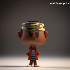 Vinyl toy render of Lucas from Stranger Things | Designer: Kibookied