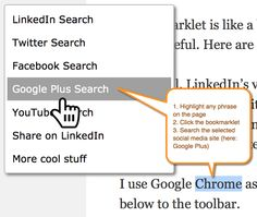 7 Social Media Bookmarklets from the Social Media Ninja