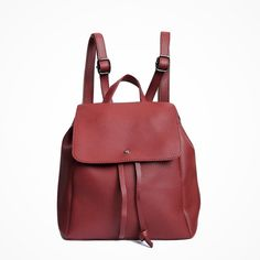 €19,45 URBAN LOOP | Zaino in   ecopelle bordeaux donna | Faux Leather Backpack