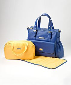 Look at this MinkeeBlue Cobalt Blue Diaper Bag on #zulily today!