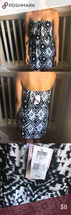 Strapless dress Strapless dress black and white kohls Dresses Strapless