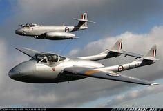 De Havilland Vampire and Gloster Meteor Military Jets, Military Aircraft, De Havilland Vampire, Gloster Meteor, V Force, Avro Vulcan, Royal Australian Air Force, Navy Aircraft, Aircraft Design