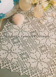 "Diy Crafts - -Crochet ""Patchwork Effect"" Doily Pattern Intermediate Skill Level, Crochet PDF Pattern Filet Crochet Charts, Crochet Flower Patterns, Crochet Designs, Pdf Patterns, Thread Crochet, Crochet Doilies, Magia Do Crochet, Crochet Table Runner Pattern, Fillet Crochet"