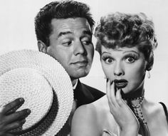 Desi Arnaz and Lucille Ball pose for an 'I Love Lucy' promo. (Photo: Getty…