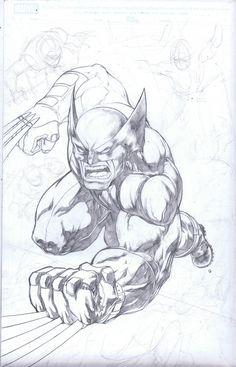X-Force Wolverine WIP by emilcabaltierra.deviantart.com