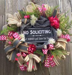 Everyday Wreath All Season Wreath Door Hanging by BaBamWreaths