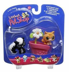 Littlest Pet Shop Pet Pairs Figures Skunk with Kitty