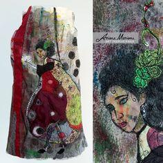 Meesterwerk Wearable Art vrouwen Vest  ecovriendelijke traag