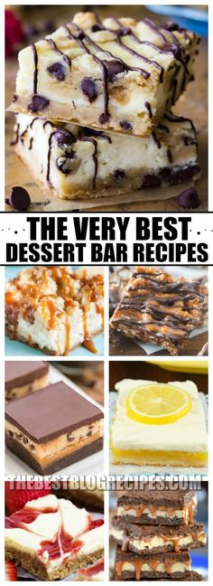 Need a cure for your sweet tooth? Try The Best Dessert Bar Recipes! These bars are the most decadent, sweet, and addicting desserts! One bite of any of these recipes and you will be hooked!