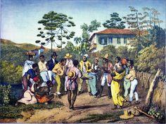 """""""Dança batuque"""". Johann Moritz Rugendas (1835)"""