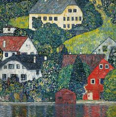 Gustav Klimt.  The details which comprise the simplicity of a scene are always conveyed with such respect somehow for the whole picture.