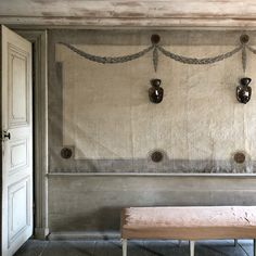 The grandest interiors @skansen are found in a beautiful 17th century Manor House that was remodelled in the late 18th century in cool grey Gustavian style. Serene.