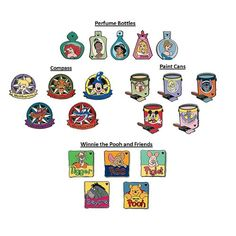 Checklist Hidden Mickey Pins | ... Store - Disney Mystery Pin Set - 2012 Hidden Mickey Wave A - 2 Random