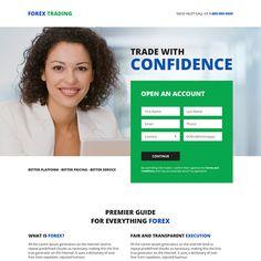 online forex trading platform sign up capturing responsive landing page