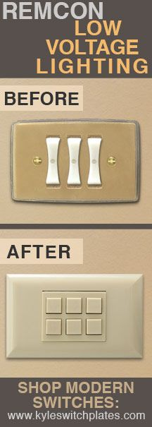 Low Voltage Light Switch : voltage, light, switch, Modern, Remcon, Voltage, Lighting, Switches, Remodel., Lighting,, Switch, Plates,