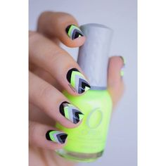 Best Neon Nail Polishes Our Top 10 ❤ liked on Polyvore featuring beauty products, nail care, nail polish, nails, makeup and backgrounds