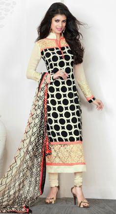 Black & Buttercream #Salwar Kameez