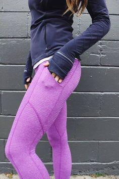 Lululemon tender violet pique speed tights