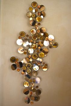 Curtis Jere 'Raindrops' wall sculpture