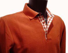 33638fbdc7966a Polo Stil Park manches longues col chemise couleur brique. Gilet  HommeVêtements ...